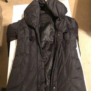 Tahari Puff Collar Coat